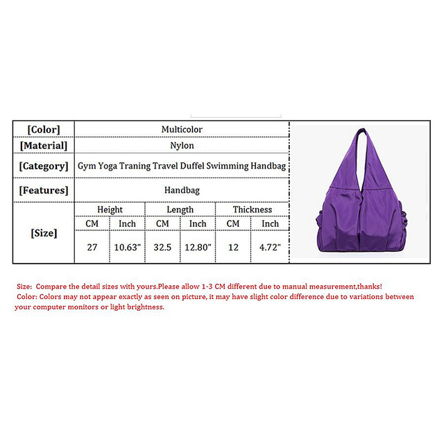 Women Nylon Gym Bags New Outdoor Sports And Fitness Handbag New Female Outdoor Shopping Bag Yoga Training Women Bag