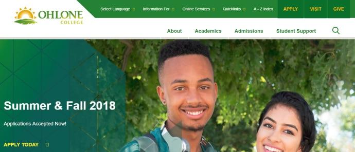 Ohlone College(奥龙尼大学)免费EDU邮箱