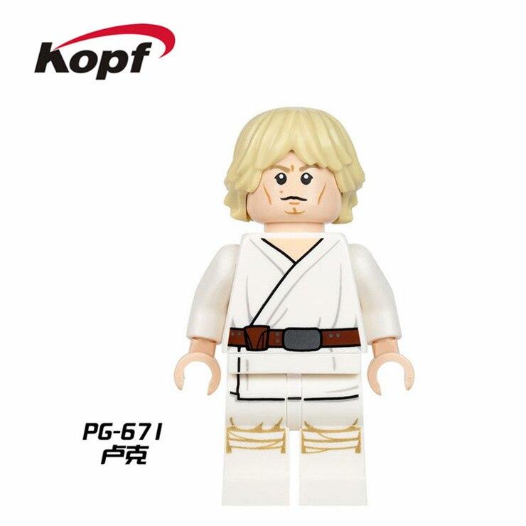 20Pcs Building Blocks Super Heroes Luke Skywalker Starwars Jedi Knight Han Solo Star Wars Bricks Toys for children Gift PG671