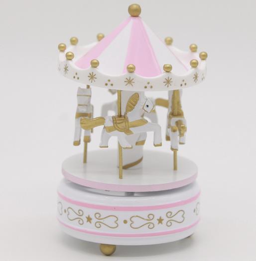 Круглые музыкальные шкатулки Merry-go-round, геометрические музыкальные украшения для детской комнаты, подарки унисекс, Деревянная Рождественская карусель, коробка для домашнего декора, 1 шт - Цвет: 6