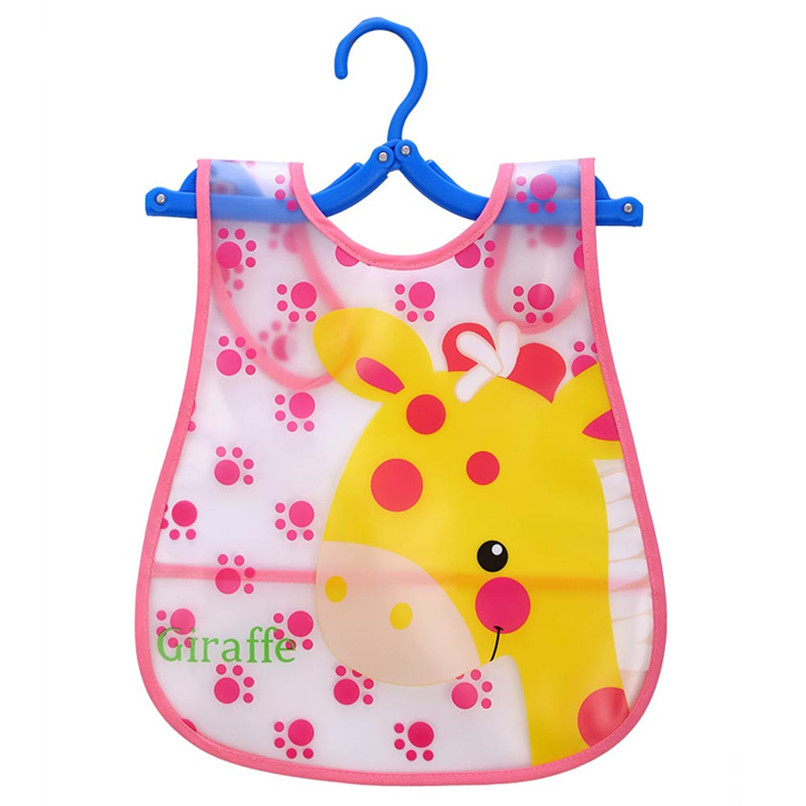 Adjustable Baby Bibs EVA Plastic Waterproof Lunch Feeding Bibs Baby Cartoon Feeding Cloth Children Baby Apron Babador de bebe (5)
