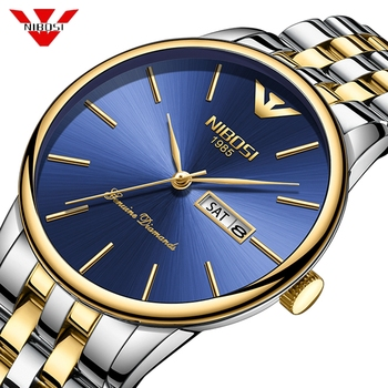 NIBOSI Watch Men Fashion Sports Quartz Full Steel Gold Business Mens Watches Top Brand Luxury Waterproof Watch Relogio Masculino