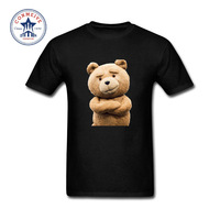 2017 Fashion Summer Style Cute Movie Ted 2 Cotton Funny T Shirt For Men