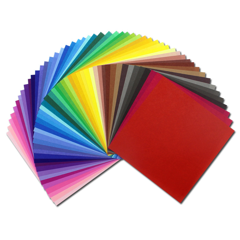 Buy 200pcs 50 colors origami paper craft for Chart paper craft work