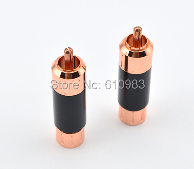 Free Shipping with tracking number 2pcs X  AV Connector RCA Male Plug Connector Adapter Straight for 9mm Cable free shipping tracking no 100