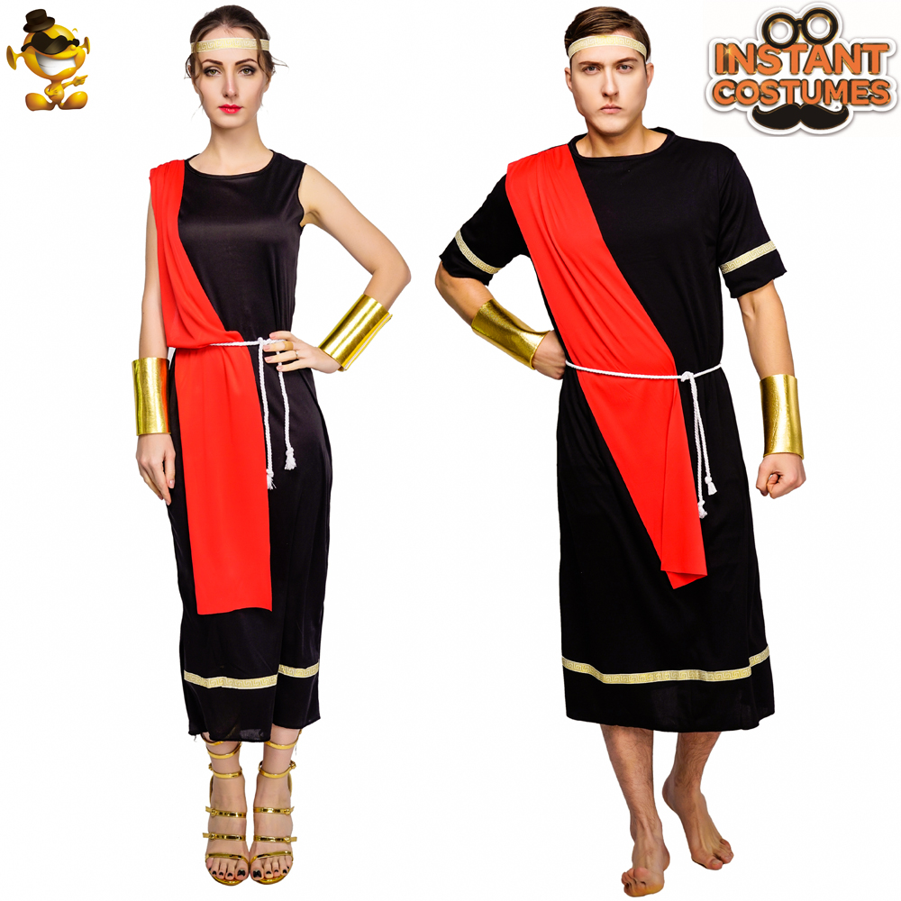 Adult men's& Women's Caesar Toga Costume Dress up Carnival Party Caesar Costume