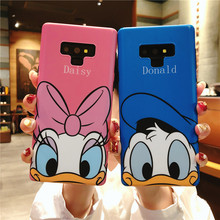 Sam Note 9 Cartoon Case, Cute Daisy minnie Mickey Donald Duck Soft back phone cover for Samsung Galaxy Note 9 Note8 matte cover