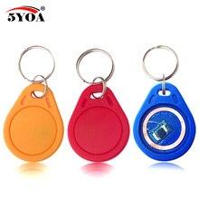 10 pçs 13.56 mhz ic m1 s50 keyfobs tag controle de acesso rfid chave finder cartão token comparecimento gestão chaveiro abs à prova dwaterproof água