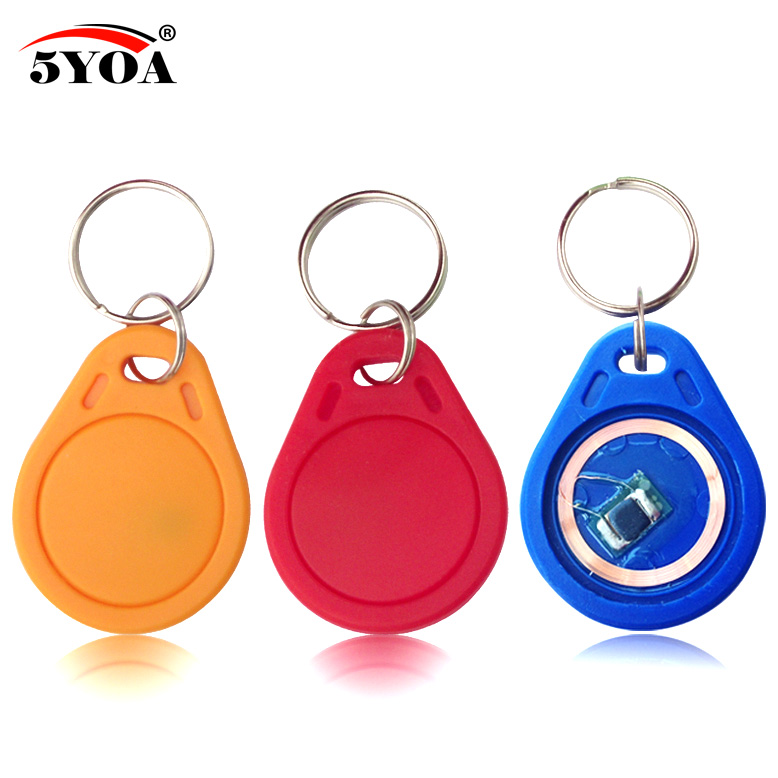 10pcs-1356mhz-ic-m1-s50-keyfobs-tags-access-control-rfid-key-finder-card-token-attendance-management-keychain-abs-waterproof