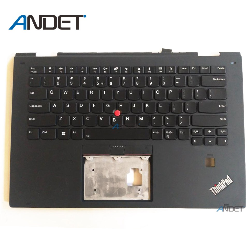 New Original for Lenovo ThinkPad X1 Yoga 2nd 20JD 20JE 20JF 20JG Palmrest Keyboard US English Backlit Upper Case Cover 01HY810 genuine new for lenovo thinkpad x1 helix 2nd 20cg 20ch ultrabook pro keyboard us layout backlit palmrest cover big enter