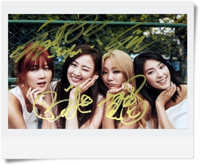 signed SISTAR autographed  original group photo 6 inches freeshipping 062017 snsd tiffany autographed signed original photo 4 6 inches collection new korean freeshipping 012017 01