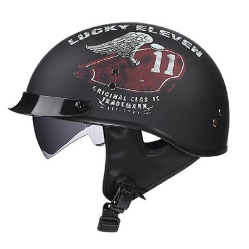 Взрослые шлемы для мотоцикла ретро Половина Круизный шлем принц мотоциклетный немецкий шлем винтажный мотоциклетный мото M L XL XXL