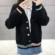 Cardigan Sweater Women 2019 Spring Autumn Pocket Womens Knitted Jacket Long Sleeve Top
