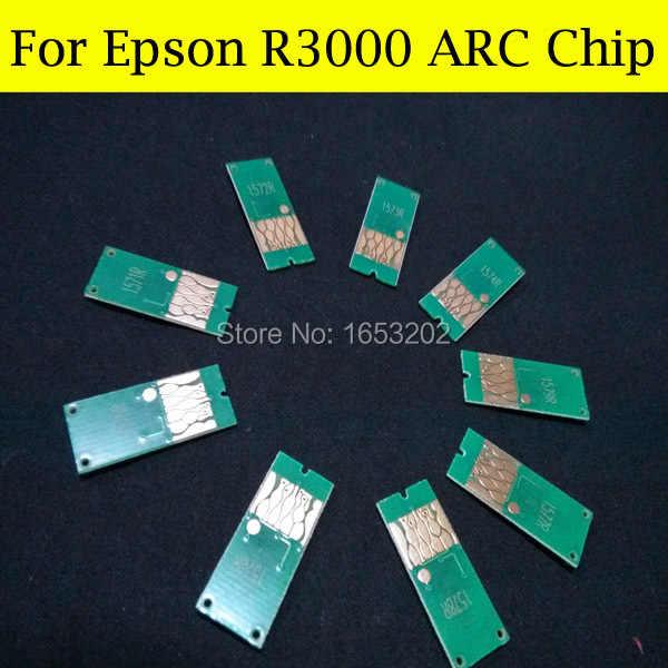 1セット高品質アークチップエプソンr3000インクカートリッジチップt1571-t1579 t157 T157XL
