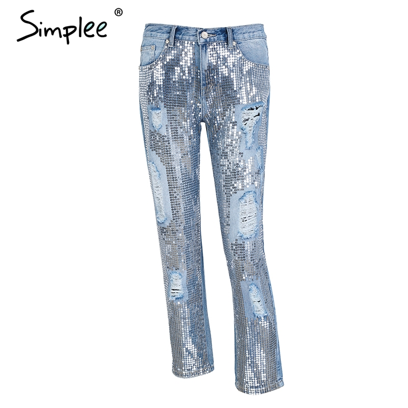 джинсовые с Simlee, синие 9