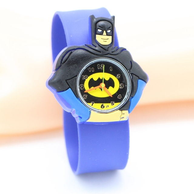 fashiong kids slap watches children batman cartoon slap silicone wrist watch for