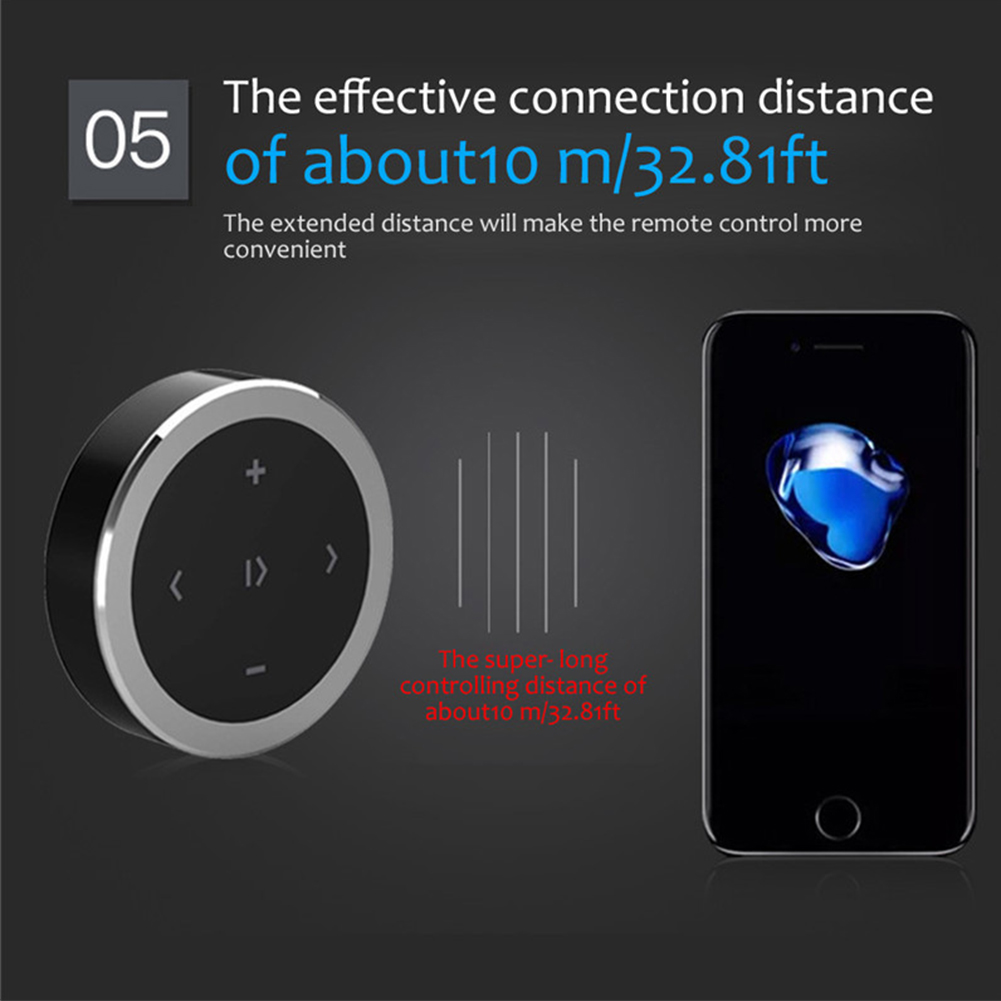 Intelligent Durable Wireless Remote Controller Portable Car Mounted Bluetooth Round Electronic Connection Easy Install Receiver in Remote Controls from Automobiles Motorcycles