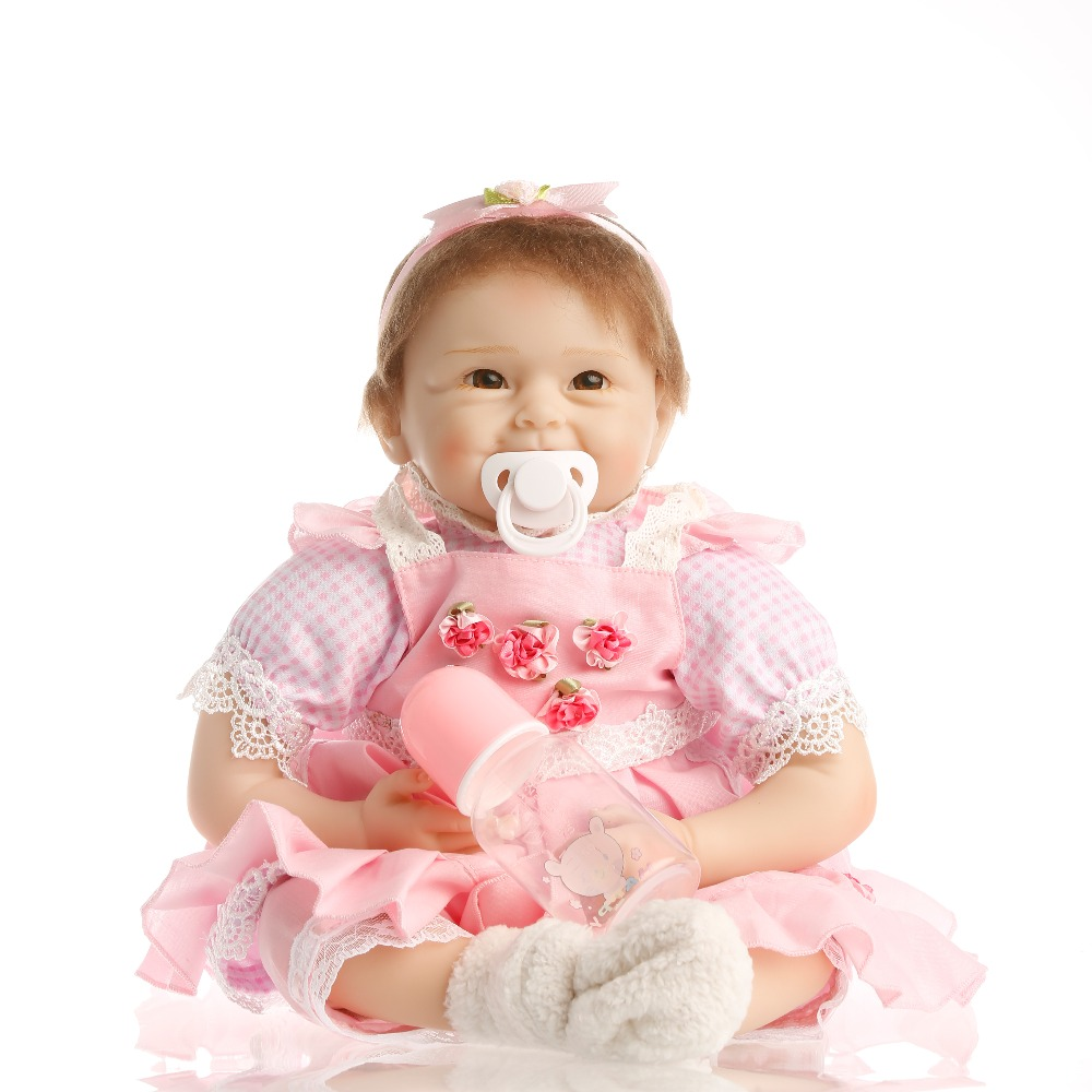 Sanydoll 22 بوصة 55 سنتيمتر واقعية reborn baby دمية الشعر الجذور لينة سيليكون واقعية دمية فتاة هدية عيد الميلاد
