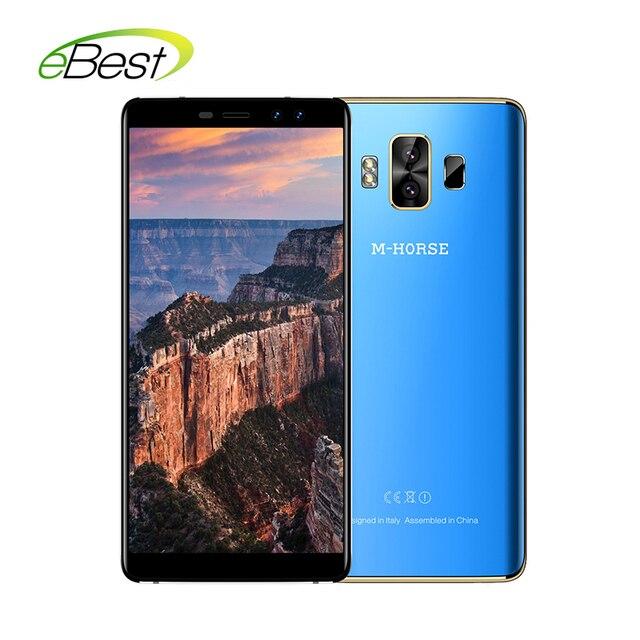 """М-лошадь чистый 1 смартфон 5,7 """"ips 18:9 соотношение Экран 2/3 GB Оперативная память 16/32 GB mtk6737 четыре ядра 4380 mAh отпечатков пальцев ID 4G мобильный телефон"""