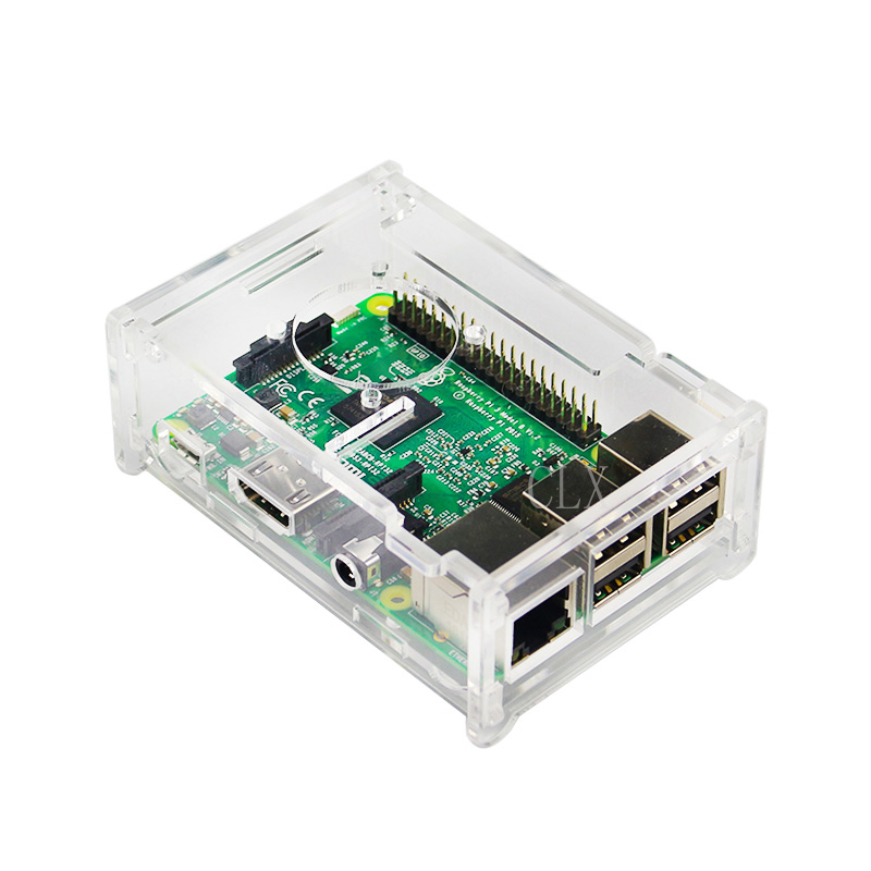 Raspberry PI 3B+ Transparent Acrylic Case Cover Shell Enclosure Box With Fan For Raspberry PI Model B And Model B+