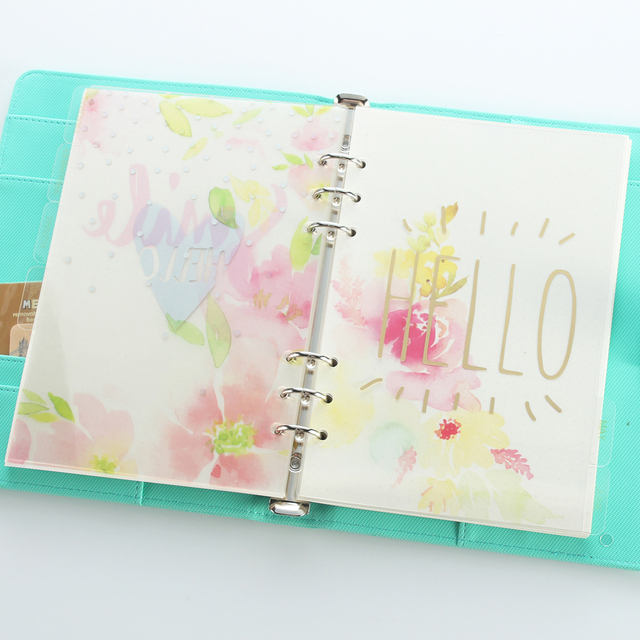 Cute fancy cartoon 6 holes dividers for person spiral notebooks