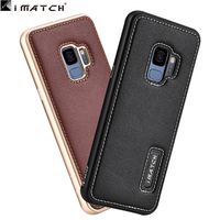 for samsung S9 case Metal aluminum genuine leather back cover for samsung galaxy S9 plus coque