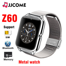 Z60 Women Smart Watch Men Sim Card Clock Bluetooth Phone Metal Watches Smartwatch Kids PK Q18 For Android iPhone IOS