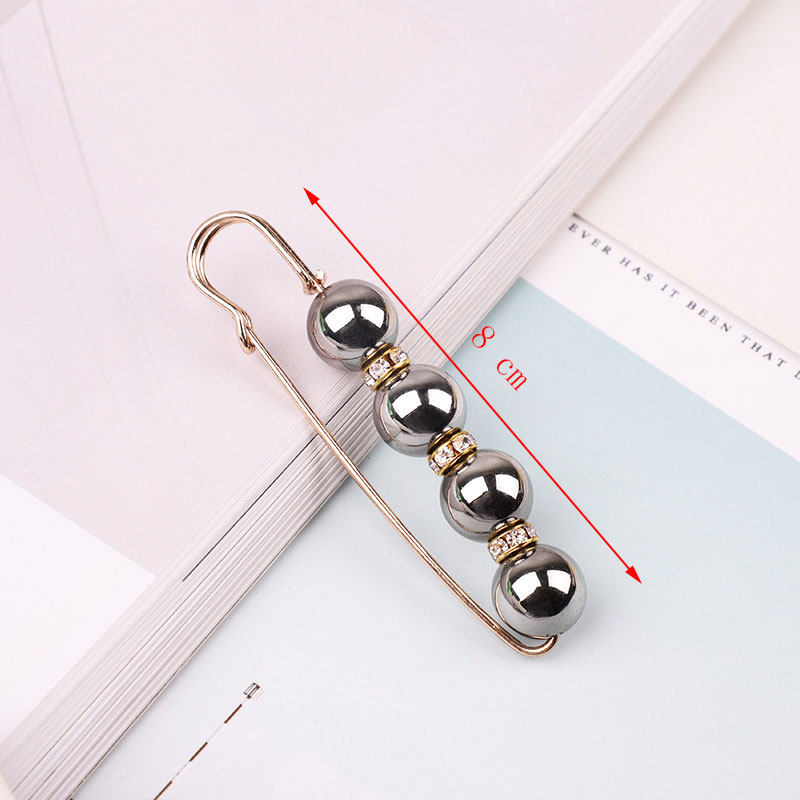 19 High Quality Vintage Gold Brooch Pins Double Head Simulation Pearl Large Big Brooches For Women Wedding Jewelry Accessories 37