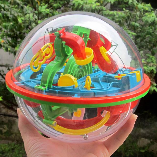 100 Pasos 3D Bola Mágica de Inteligencia Cubo Laberinto Educativo Equilibrio Increíble Globo de Juguete Para Niños Magia Rolling Ball Esfera Laberinto