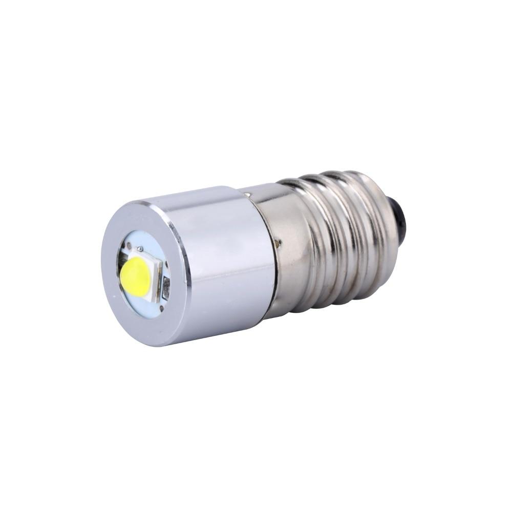 цена на White LED Upgrade Bulb 3 6 Cell C D Model 1W E10 3v 4.5v 6v 7v 9v 12v Replace LED Flashlight Torch Bulbs