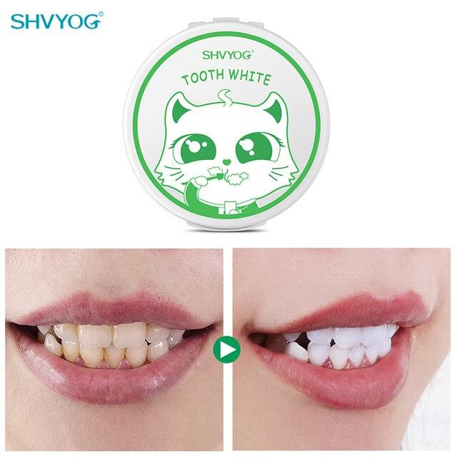 SHVYOG Teeth Whitening Powder Fresh Breath Lasting Freshing Remove Coffee Tea Smoke Stains Whitener Tooth Powder Daily Wash Use