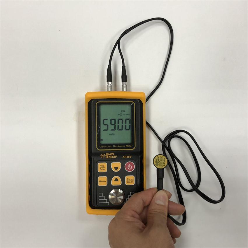 Ar850 + medidor de espessura ultra-sônico tester medidor de velocidade sadia largura do metal que mede 1.2 a 225mm para a placa de alumínio de aço