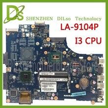 KEFU LA 9104P for dell 3521 5521 laptop motherboard la 9104p dell motherboard i3 CPU orginal