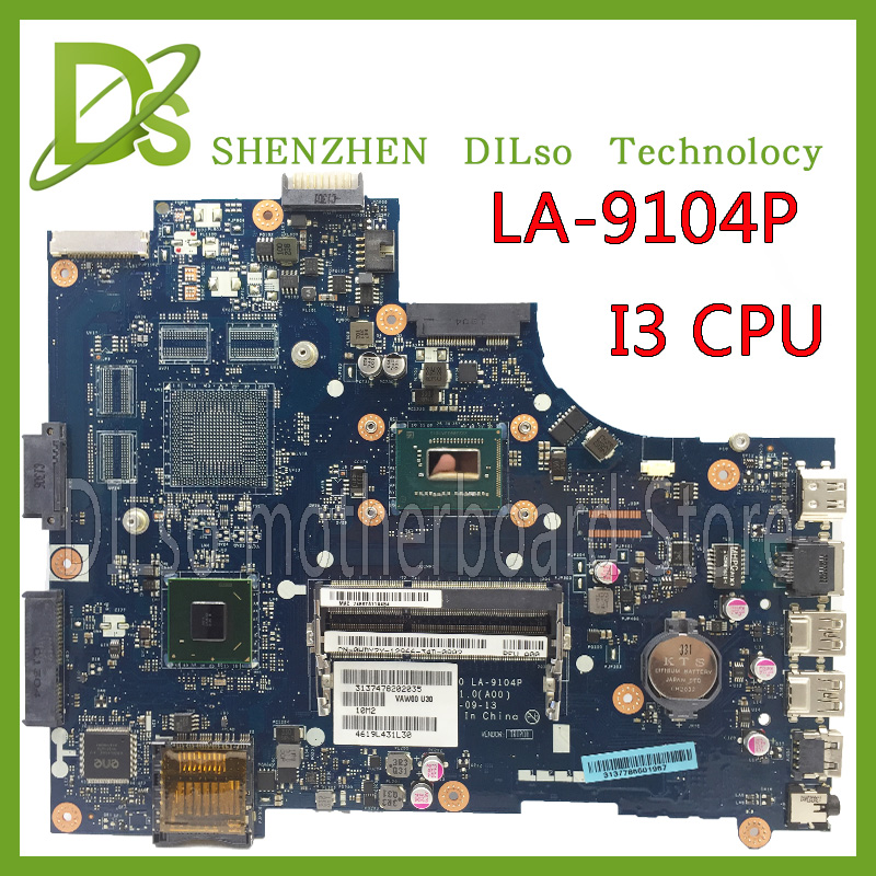 KEFU LA-9104P pour dell 3521 5521 mère d'ordinateur portable la-9104p dell carte mère i3 CPU original carte mère de Test