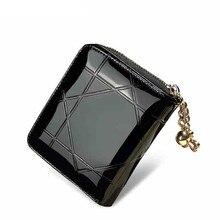 Patent Leather Womens Wallets Female Small Wallets Mini Zipp
