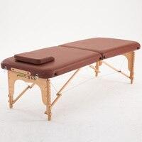 70 см шириной 2 раза комфорт дерева, массажный стол кровать W/Чехол салон мебели складной Портативный тайский спа массажный стол татуировки к