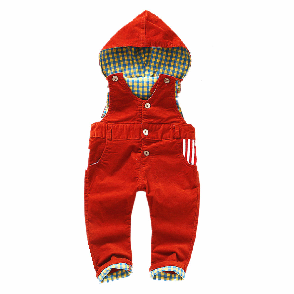 9m-4Years Baby Long Pants Hooded Overalls, Infant Boys Girls Corduroy Jumpsuit,Soft Comfortable 100% Cotton Inside For Winter