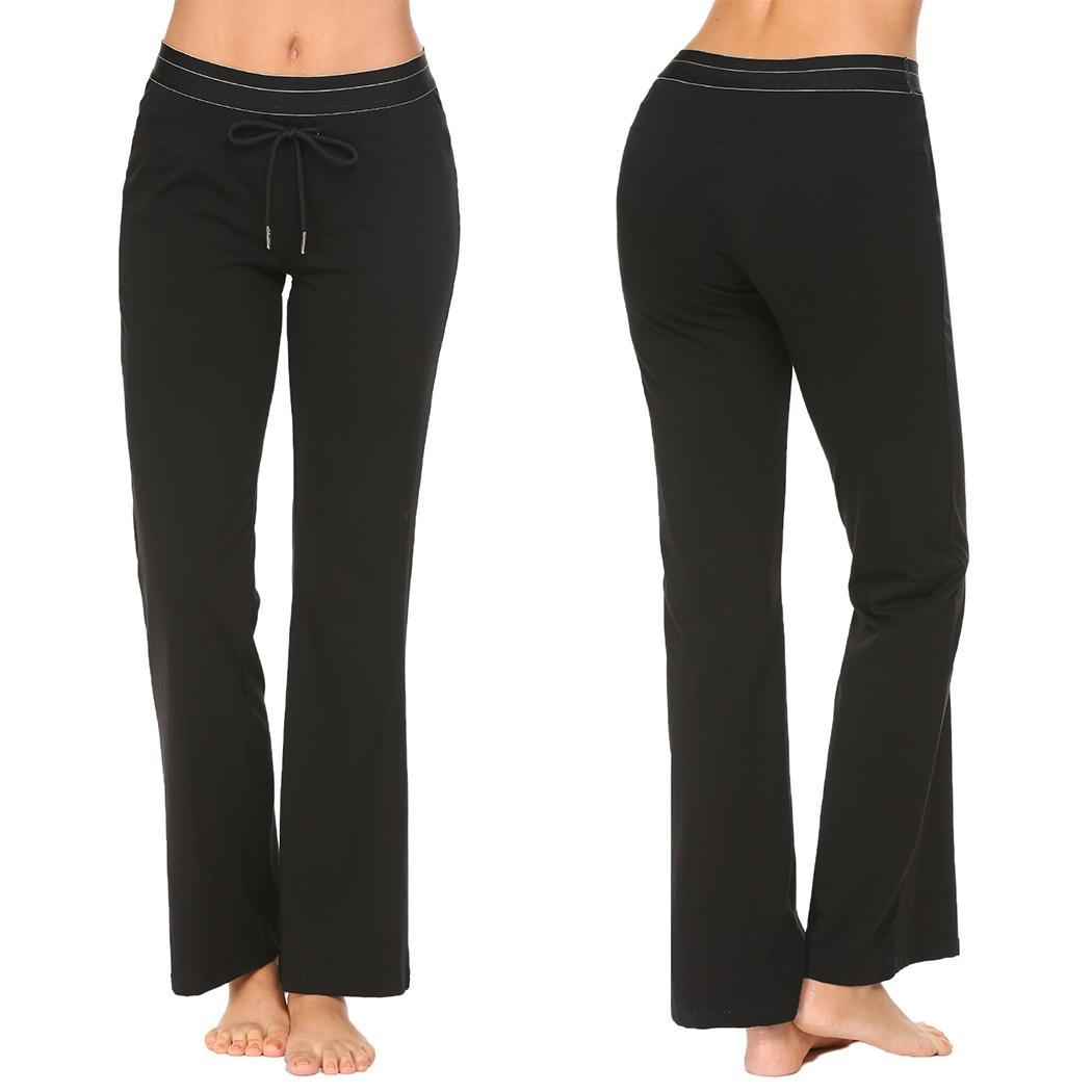 None elastic pj solid women pant lounge pants soft waist pajama loose drawstring