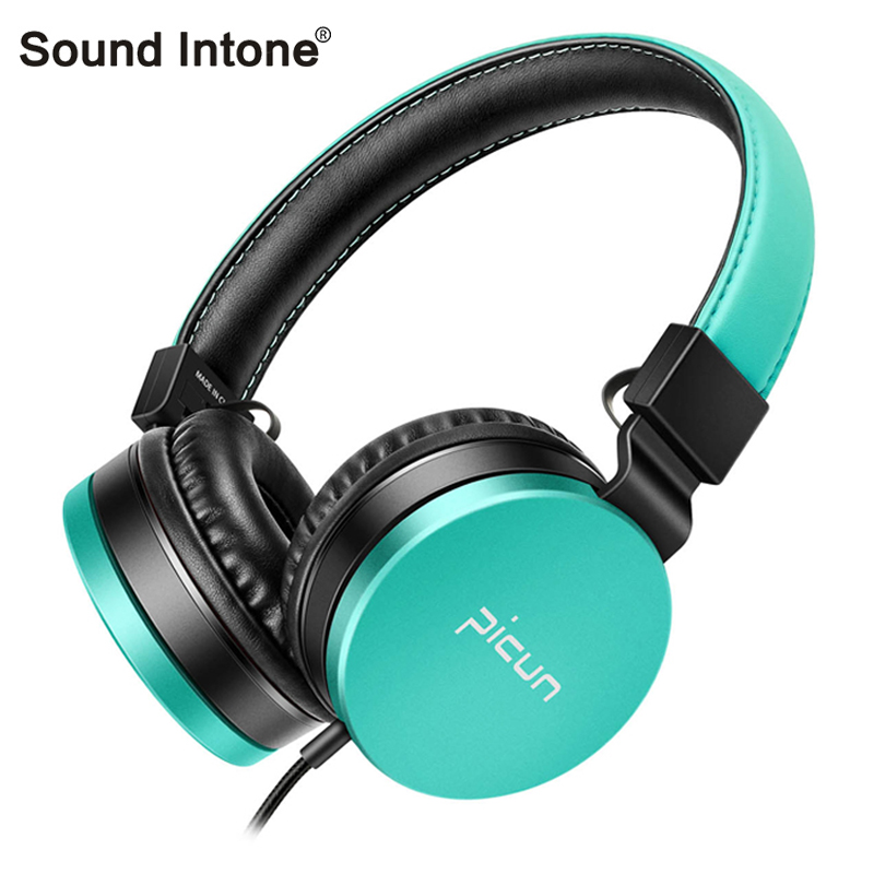 Sound Intone C18 Wired Stereo Music Headphones with Volume Control HD Microphone 3.5mm AUX Headsets for Smartphones PC TV sound intone c18 adjustable over ear headpones wired hifi sound stereo headsets with microphone for phone music computer gaming