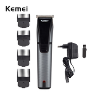 Stainless Steel Blade Electric Rechargeable Hair Carving Trimmers Lettering Clipper Haircut Machine Set 4 Limit Combs