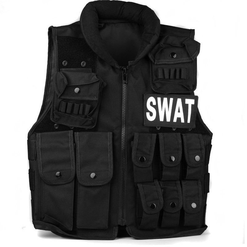 Colete Tatico Balistico Swatt Paintball Airsoft 15%Off CS Airsoft Game Tactical Military Combat Traning Protective Security Vest ear protective terminator full face mask airsoft paintball mask halloween protective cs wargame field game cosplay movie prop