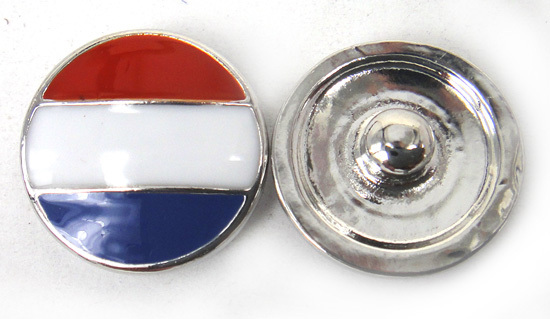 Free shipping fashion NL flag enamel  DIY snap button charm