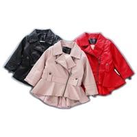 Baby Girls Leather Jackets Spring Autumn Girls PU Leather Jacket Fashion Kids Jackets Children Outerwear2 7T