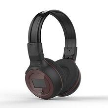ZEALOT Bluetooth Headphones LED Display Screen Wireless Headset Stereo Bluetooth V4.0 Earphones with FM Radio TF Card Slot