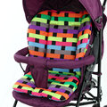 2016 New Baby Stroller Seat Cushion Cotton Plaid Baby Car Pad Stroller Accessories Pram Plaid Cotton Thick Mat