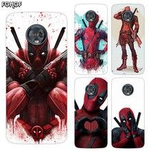 Silicone Hull Shell Back Case For Motorola MOTO G5 G5S G6 E4 E5 Plus G4 Play X4 Riverdale Cover Marvel Hero Deadpool