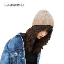 BINGYUANHAOXUAN Beanie Hat Women Autumn Winter Knitted Watch Cap Wool Knit Skullies Braided for Female Girls 2019