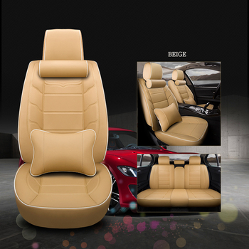 WLMWL Universal Leather Car seat cover for Dodge all models caliber journey caravan aittitude car styling accessories