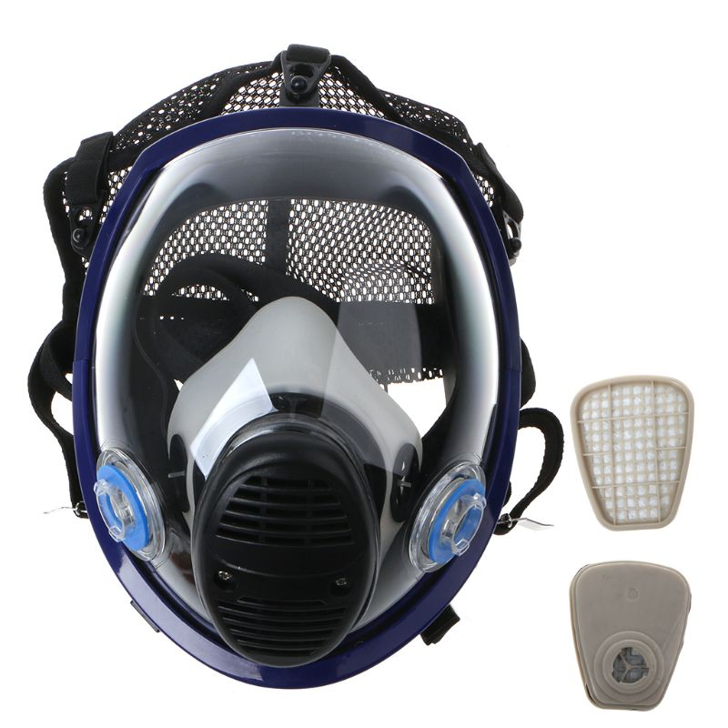 Facepiece Respirator Kit Full Face Gas Mask For Painting Spray Pesticide Chemical Fire ProtectionFacepiece Respirator Kit Full Face Gas Mask For Painting Spray Pesticide Chemical Fire Protection