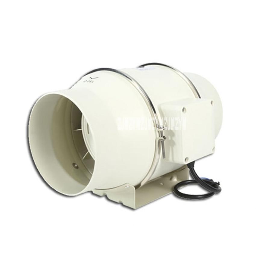 TD-150E 6 Mute bathroom Ventilation Fan Exhaust Air Mixed Flow Inline Ventilators Duct Fan Blower 220v/50Hz good quality 6 inline 240cfm duct booster exhaust ventilation blower fan 15mm for grow tent room
